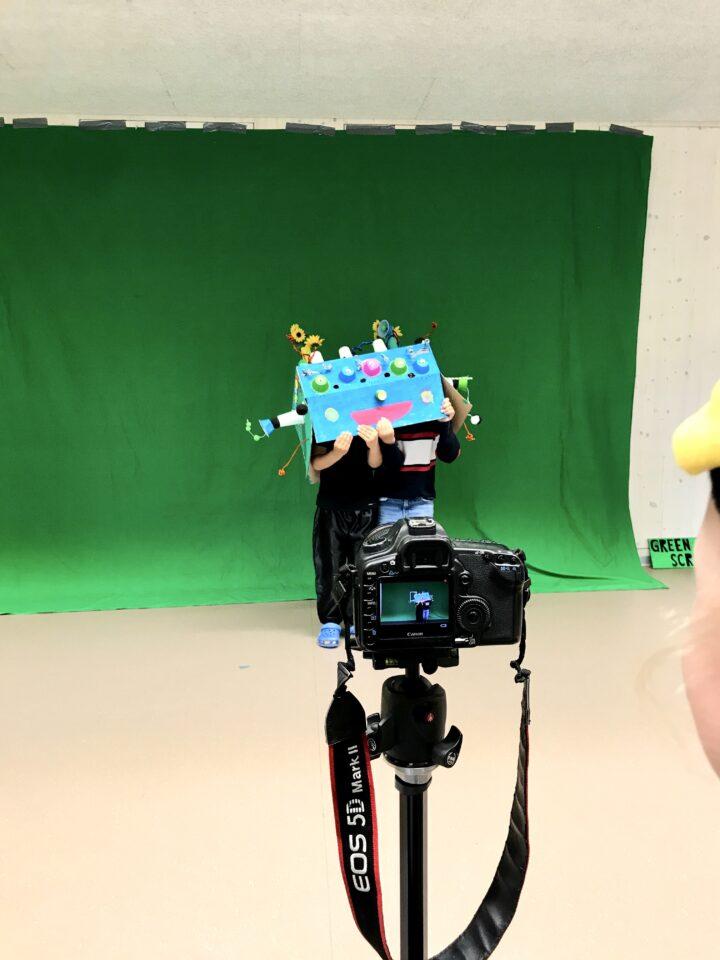 Green Screen Studio. Filmdreh mit Sarah Hugentobler